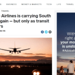 Singapore Airlines is carrying South Africans again – but only as transit passengers