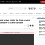 Covid-19: Third wave could be less severe - health department tells Parliament | News24
