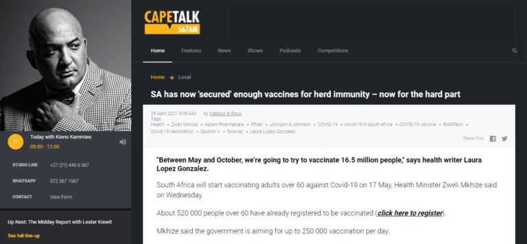 SA has now 'secured' enough vaccines for herd immunity – now for the hard part