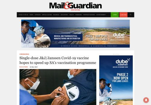 Single-dose J&J/Janssen Covid-19 vaccine hopes to speed up SA's vaccination programme - The Mail & Guardian