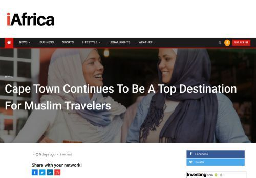 Cape Town Continues To Be A Top Destination For Muslim Travelers - iAfrica
