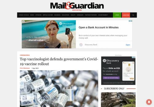Top vaccinologist defends government's Covid-19 vaccine rollout - The Mail & Guardian