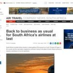 Back to business as usual for South Africa's airlines at last - SA Airlines