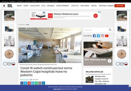 Covid-19 watch continues but some Western Cape hospitals have no patients