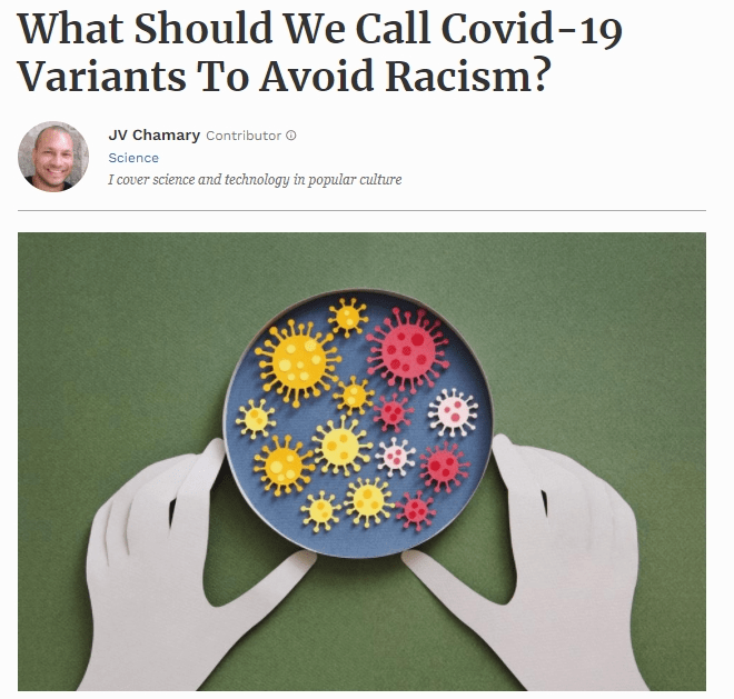 What Should We Call Covid-19 Variants To Avoid Racism?