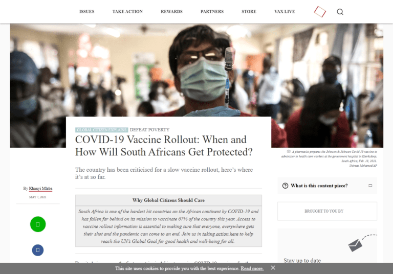 COVID-19 Vaccine Rollout: When and How Will South Africans Get Protected?