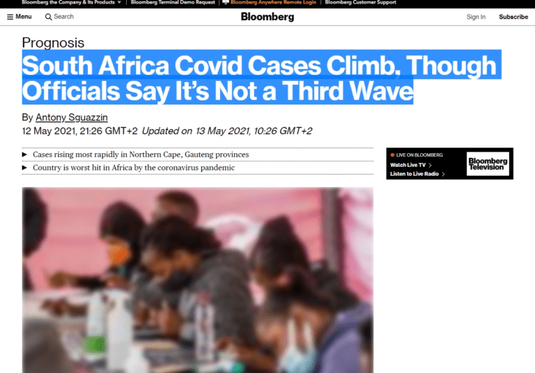 South Africa Covid Cases Climb, Though Officials Say It's Not a Third Wave