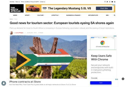Good news for tourism sector: European tourists eyeing SA shores again