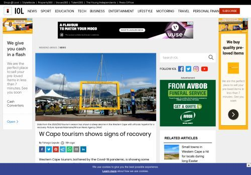 W Cape tourism shows signs of recovery