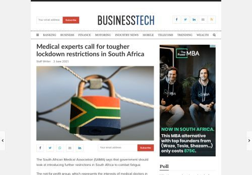 Medical experts call for tougher lockdown restrictions in South Africa